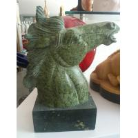 Buy cheap Antique Decorative Black Stone Horse Head Statue For Garden from wholesalers