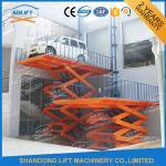 Buy cheap Blue High Rise Hydraulic Scissor Car Lift Scissor Car Parking Basement Lift from wholesalers