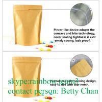 Buy cheap Promotions Brown Kraft Paper Bags With Window / Doypack Heat Sealable Tea Bags from wholesalers