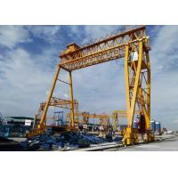 Buy cheap Double Girder Gantry Crane for Precast beam field DCS10t-20m-16m with 10t Nante Winch(sew motor) from wholesalers
