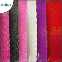 Buy cheap Cream  PU Leather Fabric Rolls Sheets Economical Cost Effective Custom Shape Size from wholesalers