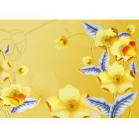 Wholesale Yellow Color Not Deformed Interior Wall Panels Tv Background Easy To Clean from china suppliers