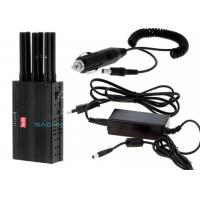 Buy cheap Light Weight Handheld Cell Phone Jammer 3 W With 7.4V / 4700mAh Battery from wholesalers