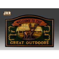 Buy cheap Hunting Club Wall Sign Antique Wooden Wall Plaques Animals Wall Art Signs Resin Deer from wholesalers