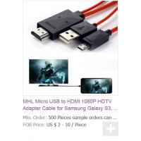 Buy cheap MHL Micro USB to HDMI 1080P HDTV Adapter Cable for Samsung Galaxy S3, Galaxy S4, S5 i9600 from wholesalers
