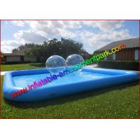 Buy cheap 0.9mm PVC Tarpaulin Inflatable Water Swimming Pool , Blue  Aqua Pool for Outdoor from wholesalers