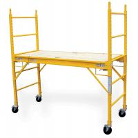 Buy cheap 6'feet movable portable Multi-function Mobile Steel Baker Scaffold in Yellow from wholesalers