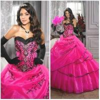 2012 Magnificent Sexy Sweetheart A-Line Sheath Jacket Ruffle Appliqued Beaded Tulle Satin Quinceanera Dresses (QD-038) Manufactures