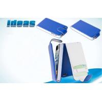 Buy cheap Iphone 5 / 5S Cell Phone Leather Cases Blue Sew Leather Case PC  PU from wholesalers