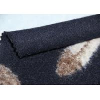 Buy cheap Navy Feather Pattern Woven Wool Jacquard Fabric Tartan Material For Upholstery from wholesalers