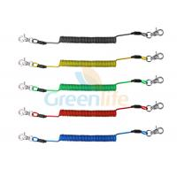Wholesale Translucent Colorful Plastic Coil Lanyard PU Covered Flexible Anti Lost Spring Steel Wire from china suppliers