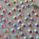 Buy cheap Crystal AB MC Hot Fix Rhinestone Strass Wholesale Women Garment Bags Accesorries Gemstones HOTFIX Flat Back Rhinestones from wholesalers