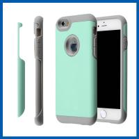 Buy cheap 2 in 1 TPU iPhone 6 Plus Protective Case , Green High Impact Defender Screen Cover from wholesalers