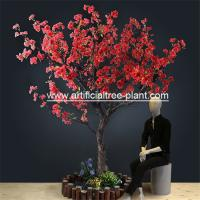 Wholesale Red Flower Branches Artificial Blossom Tree For Shopping Mall 5 Years Life Time from china suppliers