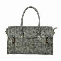 Buy cheap Synthetic Leather Handbag, Snake-embossed, Made of PU Leather, Measures 36 x 11 x 25cm from wholesalers