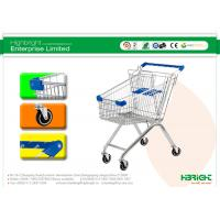 60L to 270L Supermarket European style Shopping Trolleys wheels A Series HBE-A-80L Manufactures