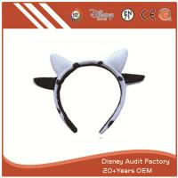 China Plush Cow Ears Headband Embroidered on sale