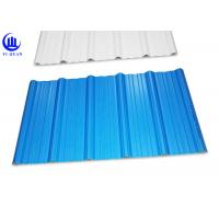 Buy cheap Trapezoidal Wave Type PVC Plastic Roofing Sheets 3 Layer Heat Insulated from wholesalers