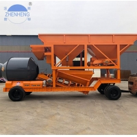 Buy cheap Drum Mixer YHZM25m3 Portable Concrete Batching Plant Double Tyres from wholesalers