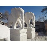 Buy cheap China White Marble Elephant Stone Carving from wholesalers