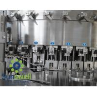Buy cheap Liquid CSD, cola, wine bottle carbonated  filling machines, water bottling machinery from wholesalers