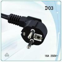 VDE male type plug and IEC female type socket AC Power Cord for washing machine Manufactures