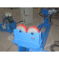 China Blue Manual Lead Screw Pipe Welding Rotator For Cylinder Welding , VFD Control on sale