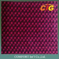 Red Jacquard Auto fabric / Auto Upholstery Fabric 220GSM 240GSM 200GSM 150CM Manufactures
