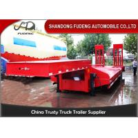 Buy cheap Custom Low Bed Trailer Transporter , Tri Axle 80 Ton Gooseneck Low Bed Trailer from wholesalers