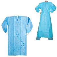 Buy cheap Single Use Disposable Hospital Gowns Sterile / Non Sterile With Blue Color from wholesalers