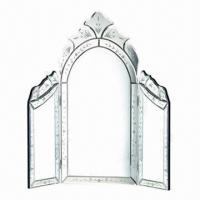 Buy cheap Venetian Table Mirror with 3 Sections, Made of MDF and Glass from wholesalers