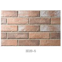 3D20-5 Ancient Thin Clay Brick For Outside Wall Installation Easily Manufactures