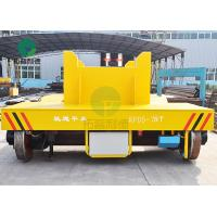Buy cheap 75 Ton Anti-High Temperature Rail Guided Cast Iron Ladle Transfer Car With V-Groove Deck from wholesalers