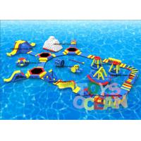 Open Sea Floating Outdoor Inflatable Water Park Commercial Superior
