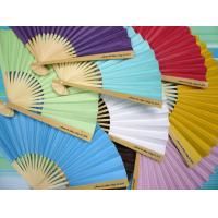 Buy cheap Personalized Paper Fans w Side Handle Print from wholesalers