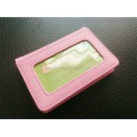 Buy cheap Women Card Holder Leather Credit Card Holder Mini Leather Wallet With Clear Window from wholesalers