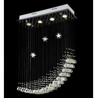 Moon Shape With Star 4 Lights Stylish Straight Ligament Crystal Chandelier Manufactures