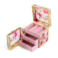 Wholesale Portable Makeup Organizer Beauty Storage Box Acrylic Tartan Jewelry Case For Women from china suppliers