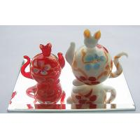 Buy cheap Red Glass Cat Statues Handmade Glass Animals Artist For Party Gift from wholesalers