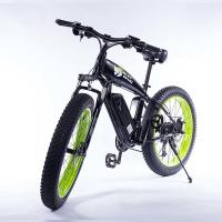 Buy cheap Green Wide Tire Snow Beach Cruiser Electric Bike 26 Inch Wear Resistant from wholesalers