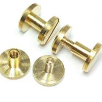 Buy cheap Machinery Industry Brass Chicago Screw For Leather Belt M5 X 30 Size from wholesalers