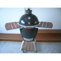 Buy cheap Oval Ceramic Big Green Egg Oven / Smoker With Stainless Steel net , Adjustable Upper Cover from wholesalers
