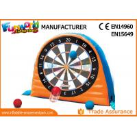 Wholesale Giant Interactive Inflatable Sticky Dart Board WIith Silk Printing from china suppliers