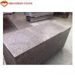 Buy cheap Custom Peach Flower Red Granite Tiles , G687 Granite Tiles For Bathroom Floor from wholesalers