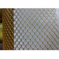 Buy cheap Bronze Galvanized Coated Decorative Metal Mesh For Building Material from wholesalers