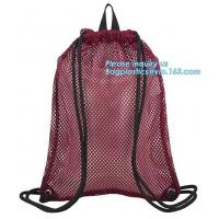 Buy cheap drawstring backpack kids mesh backpack manufacturer mesh net gift backpack,polyester drawstring outdoor cycling backpack from wholesalers