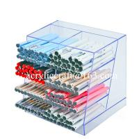 Buy cheap Clear acrylic pen holder, transparent lucite pen display stand for shop from wholesalers