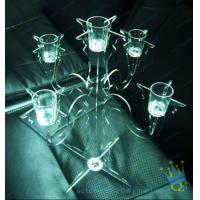 Buy cheap CH (37) tall Acrylic pillar candle holders from wholesalers