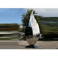 Buy cheap Park Art Decoration Polished Metal Leaf Sculpture Stainless Steel Corrosion Stability from wholesalers