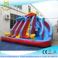 Hansel hot selling children entertainment soft play area with inflatable water slide Manufactures